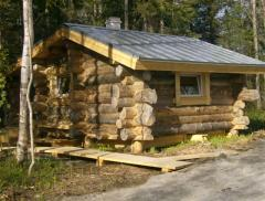 Services in construction of hunting lodges from a