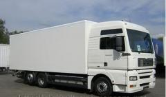 Services of a cargo transportation of 10 tons