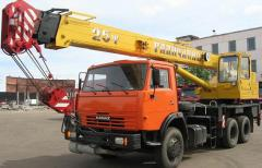 Rent of the Galichanin truck crane of 16 t 22