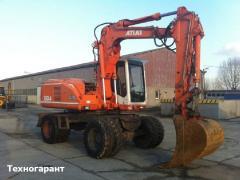 Rent of the wheel excavator depth of digging is 5