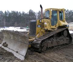 Services of rent of the bulldozer
