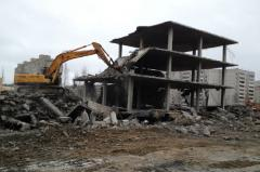 Dismantle and destruction of buildings and