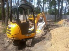 Digging services (pine-forest installation) of a