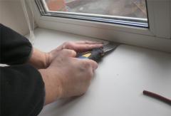 Sealing of plastic, wooden and aluminum windows