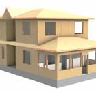 Проект деревянных каркасных домов