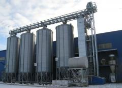 Storage of oil-bearing and grain crops