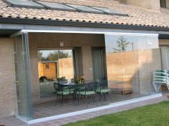 Glazing of terraces, loggias