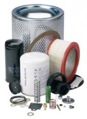 Spare parts and filters for the compressor