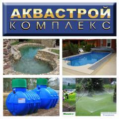 Строительство бассейнов любого размера, конфигурации и формы под ключ