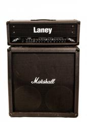 Rent, hire of a guitar stack of LANEY, MARSHALL in