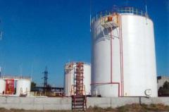 Construction and reconstruction of oil depots,