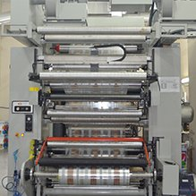 The flexographic press on packaging