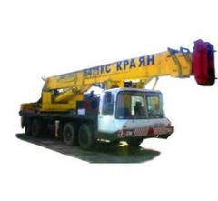 Rent of the Yanvarets truck crane Length of an