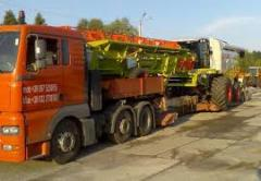 Transportations of agricultural equipmen
