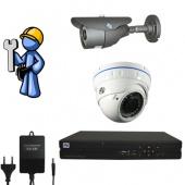 Видеонаблюдение Оптимум 2 камеры для квартиры, офиса