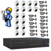 Видеонаблюдение Оптимум 32 камеры для производства