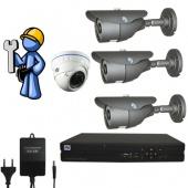 Видеонаблюдение Оптимум 4 камеры для дома