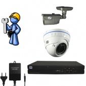 Видеонаблюдение Эконом 2 камеры для квартиры, офиса