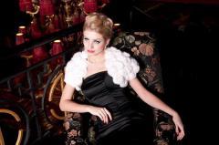 Ailoring of elegant evening dresses