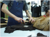 Restoration of leather clothes