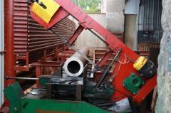Lentochnopilny cutting of metal