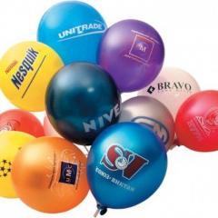 Изготовление шаров с логотипом, нанесение