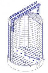 Металлические оцинкованные силосы-хранилища с активным вентилированием типа СМВУ