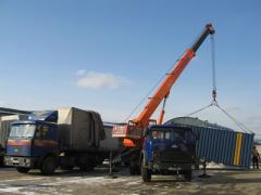 Services of the truck crane