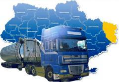 Las cargas por autotransporte a Lugansk