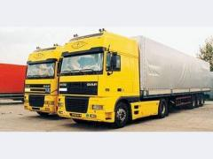 Road haulage from 20 tons vehicle flee
