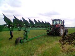 Plowing of fields