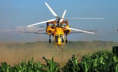 Внесение инсектицида кораген по кукурузе вертолетом