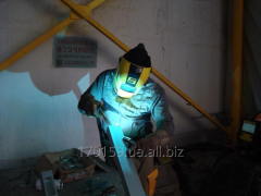 Highly professional welding in the environment of