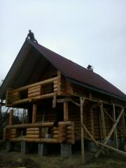 Будинки із дикого зрубу у Львові