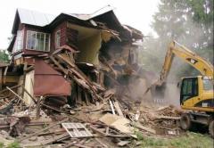 Dismantle of buildings