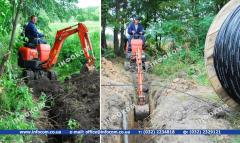 Earthwork: device of trenches and development of