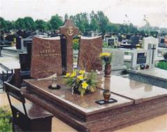 Production of gravestones from granite