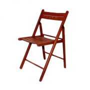Wooden folding-chair