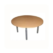 Table round on the chromeplated legs