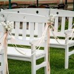 The bench is wedding white