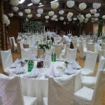 The table is wedding round