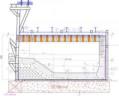 Lining of the gas furnace for melting of scrap and