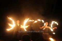 Огненное  трио ! Фаер шоу + пиро-шоу с элементами акробатики !
