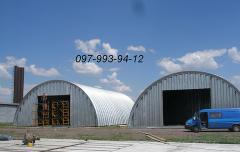 Construction of hangars frameless