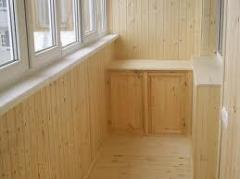 Internal finishing of a balcony