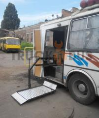 Re-equipment of PAZs 4234 buses (disabled person)