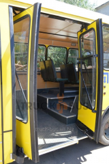 Re-equipment of buses (disabled person) of I-VAN, Bogdan, ChAZ, BAZ, PAZ, Standard, RUE, Delphine,