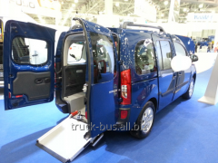Re-equipment of minibuses (disabled person)