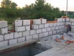 The device of external walls from all types of