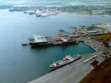 Loading and unloading, maintenance, port and dock service of vessels
